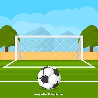 Piłka przed celem