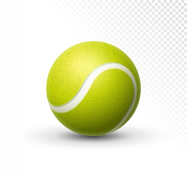 Piłka tenisowa na białym tle. zielony realistyczny tenisowej piłki clipart projekta tła zbliżenie