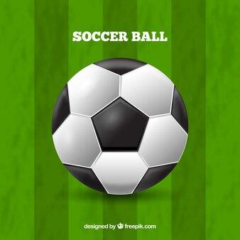 Piłka tło w realistyczny styl