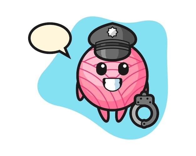 Piłka z przędzy jako policja