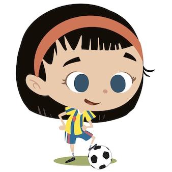 Piłkarz dziewczyna z piłką