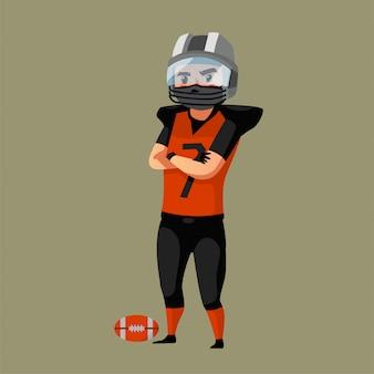 Piłkarz noszenie maski sportowca podczas pandemii c