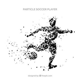 Piłkarz tło w stylu cząstek