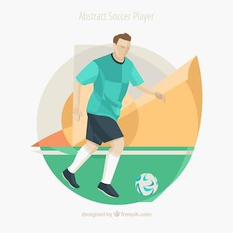 Piłkarz w abstrakcyjnym stylu