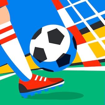 Piłkarz z piłką nożną