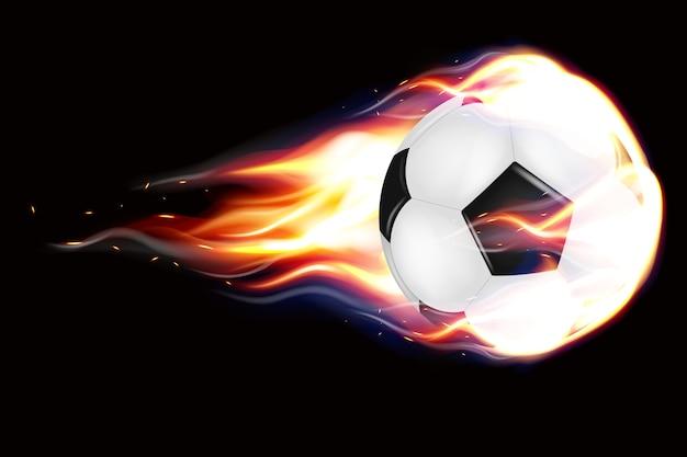 Piłki nożnej latające ilustracja