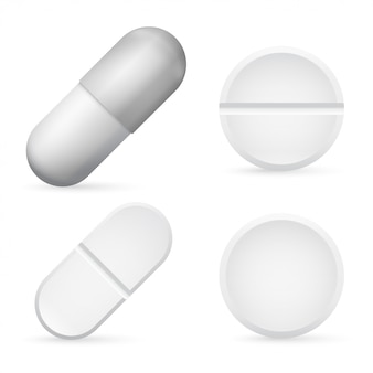 Pills capsules 3d realistic