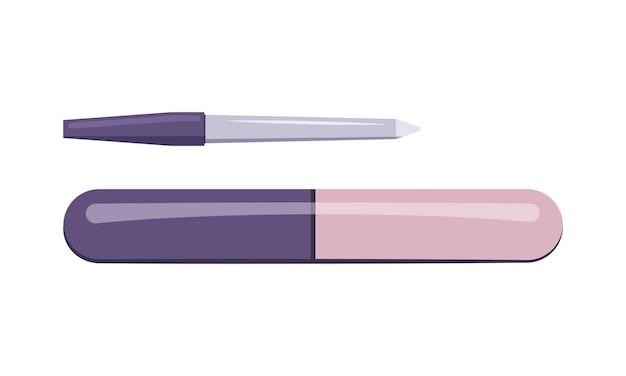 Pilniki do paznokci ikona narzędzia do manicure dbające o zdrowie rąk i paznokci ikony salon kosmetyczny płaska ilustracja