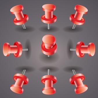 Pin czerwony