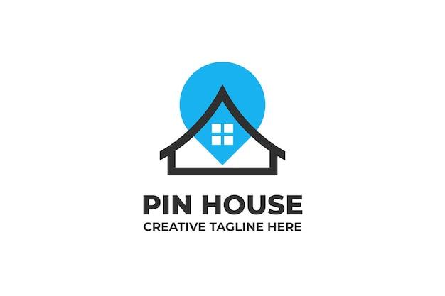 Pin lokalizacja dom logo firmy