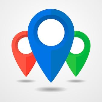 Pin na ikonę mapy na białym tle