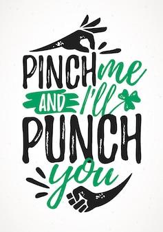 Pinch me and i will punch you śmieszne napisy