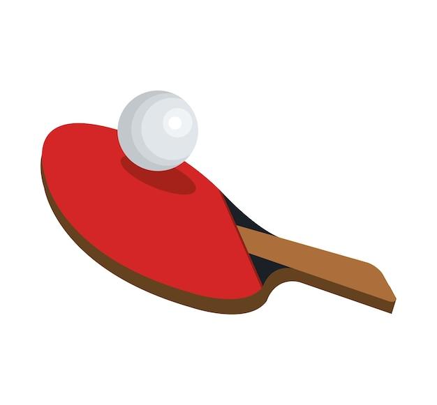 Ping pong sprzęt sport wektor ilustracja projektu