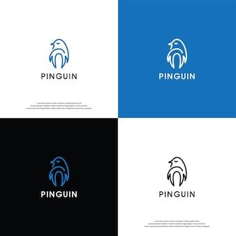 Pinguin logo wektor desain inspiracja