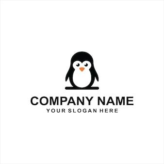 Pingwin logo wektor