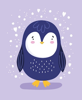 Pingwin z sercami