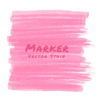 Pink marker stain