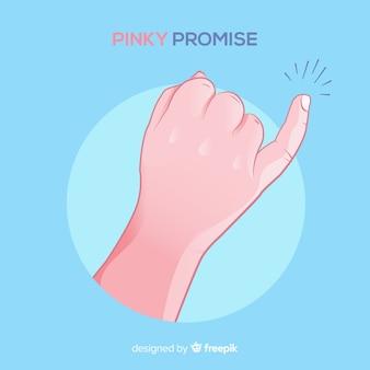 Pinky obietnica tło