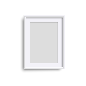 Pionowa pusta ramka na zdjęcia, realistyczna biała pionowa ramka na zdjęcia, a4