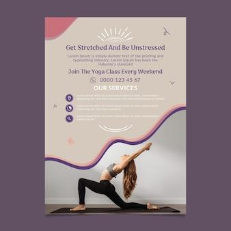 Pionowa ulotka do zajęć jogi