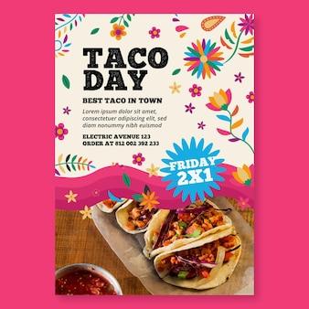 Pionowa ulotka meksykańskiego jedzenia
