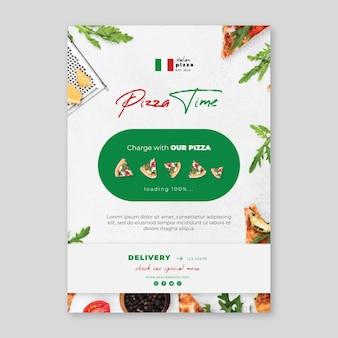 Pionowa ulotka z włoskim jedzeniem