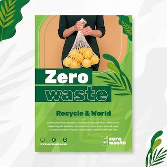 Pionowa ulotka zero waste