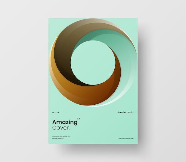 Pionowe abstrakcyjne koło geometryczne prezentacja biznesowa projekt układu ilustracja broszura szablon