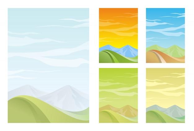 Pionowe abstrakcyjne tło górskie z gładkim gradientem