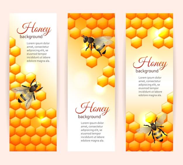 Pionowe banery pszczół