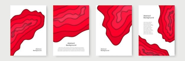 Pionowe banery z 3d abstrakcyjne tło i kształty wycinane z papieru. projekt układu wektorowego do prezentacji biznesowych, ulotek, plakatów i zaproszeń