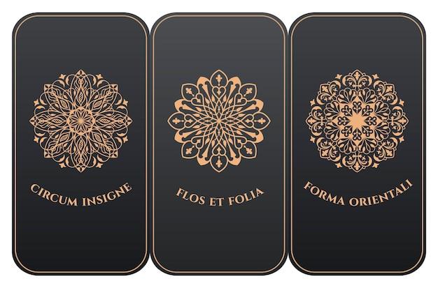 Pionowe etykiety na karty i opakowania ramek w nowoczesnym kwiatowym stylu