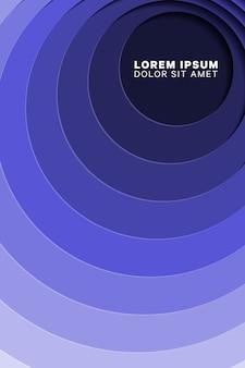 Pionowe geometryczne tło z okrągłymi otworami wyciętymi z papieru