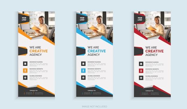 Pionowe rzutuj szablon transparent firmy