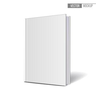 Pionowo stojące książki szablonów na białym tle. ilustracja.