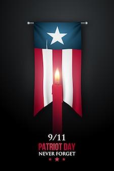 Pionowy baner dzień patrioty 11 września 2001 r