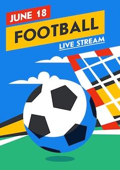Pionowy baner internetowy z piłką nożną