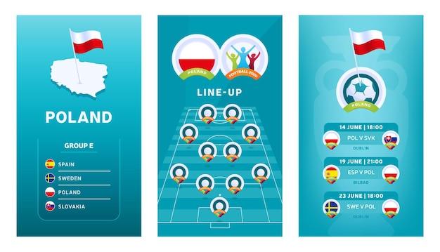Pionowy baner piłkarski 2020 dla mediów społecznościowych