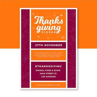 Pionowy plakat dziękczynienia