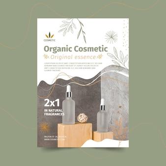 Pionowy szablon ulotki dla produktów kosmetycznych