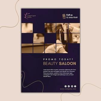 Pionowy szablon ulotki dla salonu piękności