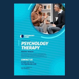 Pionowy szablon ulotki do terapii psychologicznej
