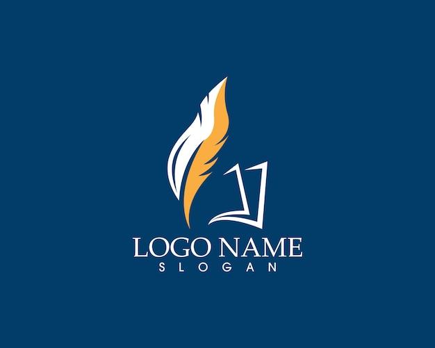 Pióro pióra napisz logo znak