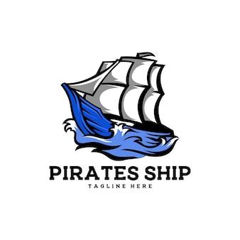 Piraci statek ocean łódź żagiel fala morski pirat