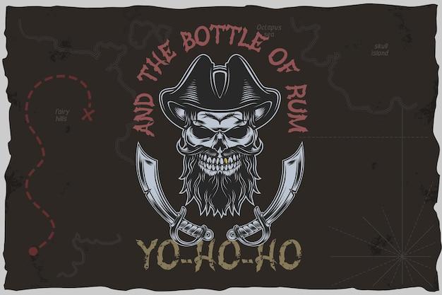 Piraci yohoho - ilustracja wektorowa tshirt.