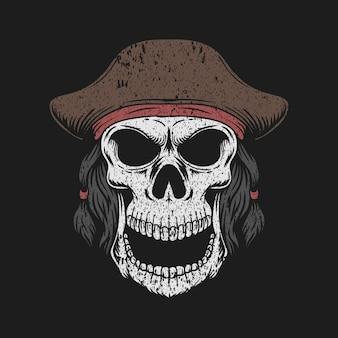 Piracki kapelusz z czaszką