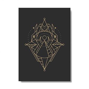 Piramida linii geometrii