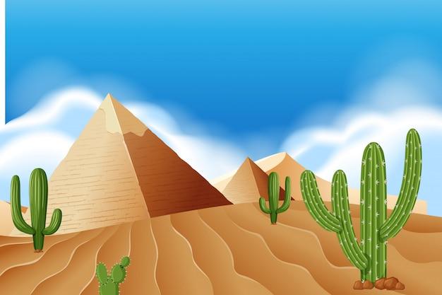 Piramida na pustyni