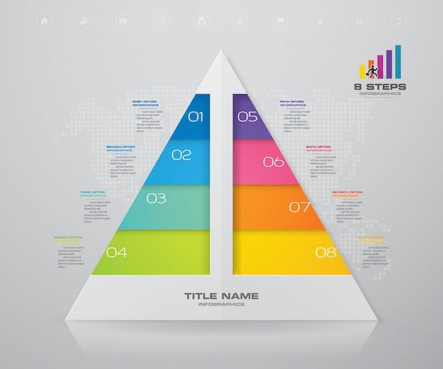 Piramida z wolnego miejsca na tekst na każdym poziomie.