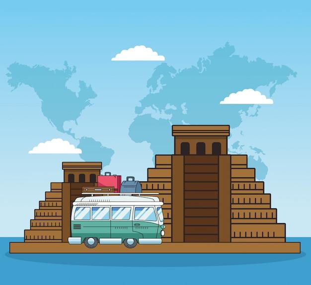 Piramidy i światowe projekty podróży